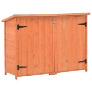 Abrigo de arrumação para jardim 120x50x91 cm madeira - PORTES GRÁTIS