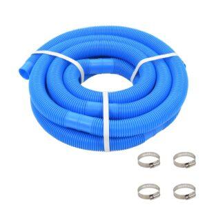 Mangueira de piscina com braçadeiras azul 38 mm 6 m - PORTES GRÁTIS