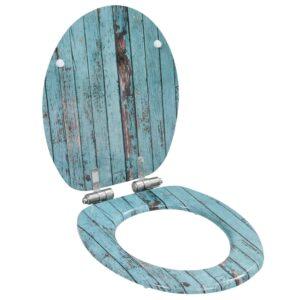 Assento sanita c/ tampa de fecho suave MDF design madeira velha - PORTES GRÁTIS