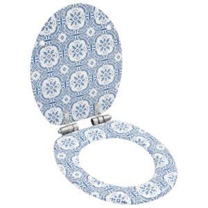 Assento de sanita com tampa de fecho suave MDF design porcelana - PORTES GRÁTIS