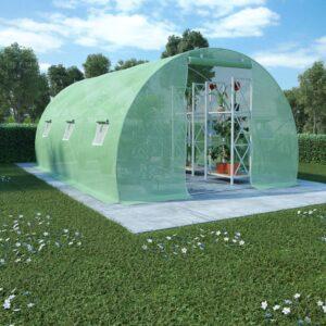 Estufa com fundação em aço 13,5m² 450x300x200 cm - PORTES GRÁTIS