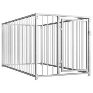 Canil de exterior 100x200x100 cm - PORTES GRÁTIS