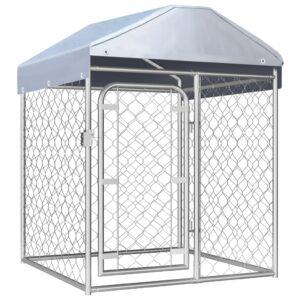 Canil de exterior com telhado 100x100x125 cm - PORTES GRÁTIS