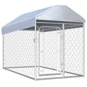 Canil de exterior com telhado 200x100x125 cm - PORTES GRÁTIS