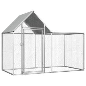 Galinheiro 2x1x1,5 m aço galvanizado - PORTES GRÁTIS