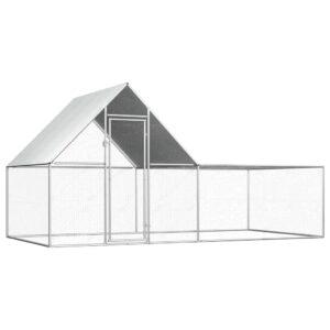 Galinheiro 4x2x2 m aço galvanizado - PORTES GRÁTIS