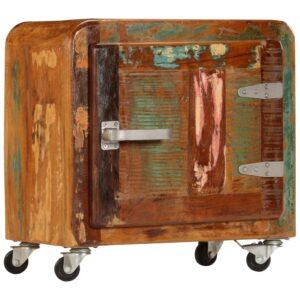Mesa de cabeceira 50x30x50 cm madeira recuperada maciça - PORTES GRÁTIS