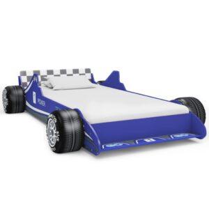 Cama carro de corrida para crianças 90x200 cm azul - PORTES GRÁTIS