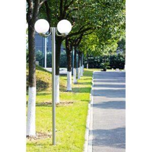 Candeeiro de pé para jardim, 2 lâmpadas / 220cm - PORTES GRÁTIS