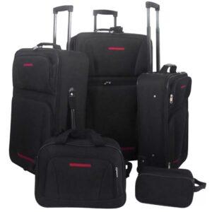 Conjunto malas de viagem 5 pcs preto - PORTES GRÁTIS