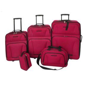 Conjunto malas de viagem 5 pcs vermelho - PORTES GRÁTIS