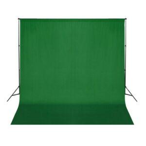 Fundo fotográfico em algodão verde 300x300 cm chroma key - PORTES GRÁTIS