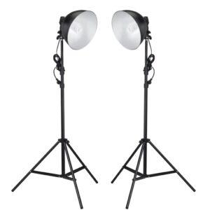 Kit iluminação de estúdio com refletor e tripés 24 watts - PORTES GRÁTIS