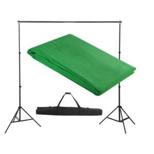 Sistema porta-fundos 300 x 300 cm verde - PORTES GRÁTIS