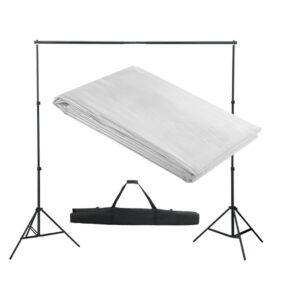Sistema porta-fundos 300 x 300 cm branco - PORTES GRÁTIS