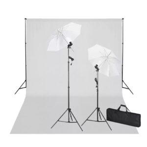 Kit de estúdio com fundo branco 600x300 e luzes - PORTES GRÁTIS