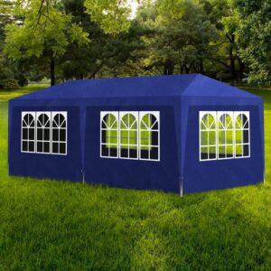 Tenda para festas 3x6 m azul - PORTES GRÁTIS