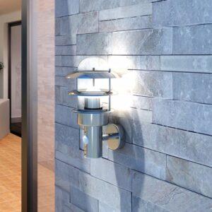 Candeeiro de parede / Aço  inoxidável - PORTES GRÁTIS