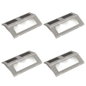 Lâmpadas solares para escadas, 4 pcs - PORTES GRÁTIS