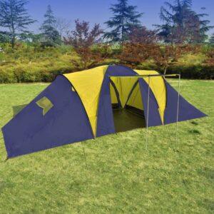 Tenda de campismo para 9 pessoas Azul-Amarelho - PORTES GRÁTIS