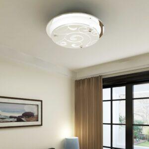 Lâmpada de tecto, vidro redondo, padrão 1x E27 - PORTES GRÁTIS