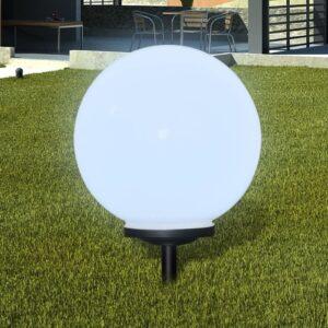 Bolas solares com pico-de-chão /  peça, 40 cm - PORTES GRÁTIS