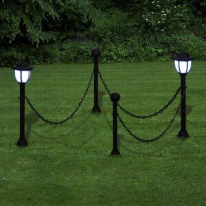 Cerca com Dois Polós pegos com o Currente e Duas Lâmpadas LED Solar - PORTES GRÁTIS