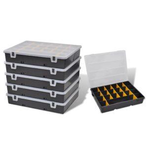 Caixa de armazenamento, 6 peças - PORTES GRÁTIS