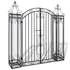 Portão de jardim ornamental 122x20,5x134 cm ferro forjado   - PORTES GRÁTIS