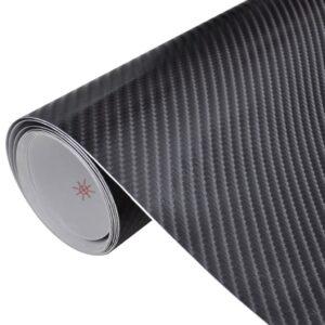 Película de carro, fibra de carbono 4D, em preto 152 x 200 cm - PORTES GRÁTIS