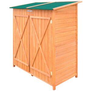 Abrigo de madeira de grande tamanho para armazenamento de ferramentas - PORTES GRÁTIS