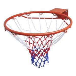 Cesto de basquetebol com malha laranja e aro - PORTES GRÁTIS