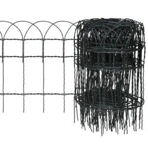 Cerca divisória para jardim em ferro revestido a pó 10x0,4 m - PORTES GRÁTIS