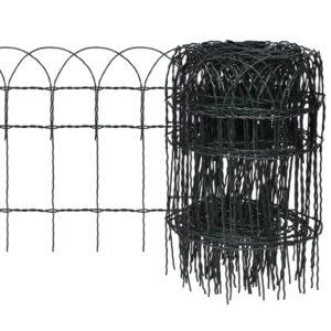 Cerca divisória para jardim em ferro revestido a pó 25x0,4 m - PORTES GRÁTIS