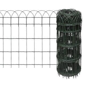 Cerca divisória para jardim em ferro revestido a pó 10x0,65 m - PORTES GRÁTIS