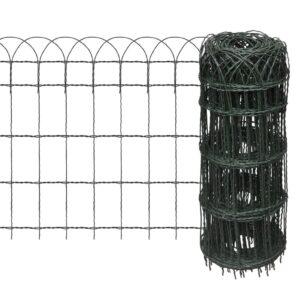Cerca divisória para jardim em ferro revestido a pó 25x0,65 m - PORTES GRÁTIS