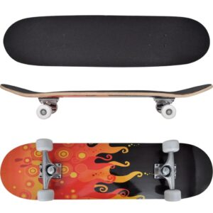 Skate oval, 9 camadas de bordo, design