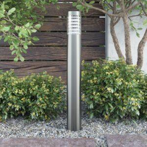Poste de luz, de exterior, em aço inoxidável, suporte chão - PORTES GRÁTIS
