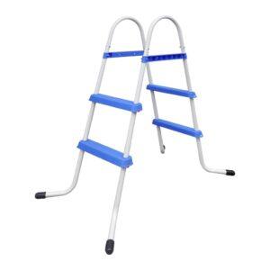 Escada para piscina com degraus antiderrapantes, 86,5 cm  - PORTES GRÁTIS