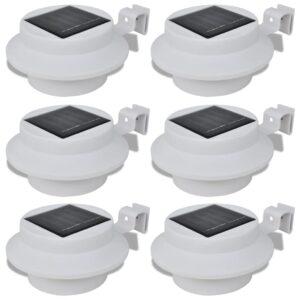Conjunto Lâmpada Solar 6 Peças de Exterior para a Cerca Calha - PORTES GRÁTIS