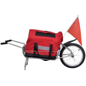 Reboque de carga para bicicleta com bagagem - PORTES GRÁTIS