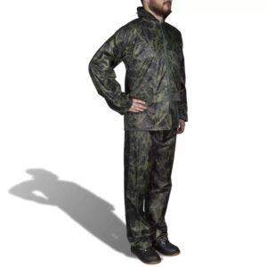 Fato de chuva camuflado para homem com capuz XXL - PORTES GRÁTIS