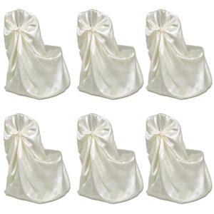 Capa cor creme 6 pcs para banquetes de casamentos - PORTES GRÁTIS