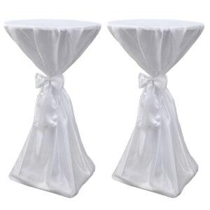 Toalha de mesa com fita, 70 cm / 2 peças, Branca - PORTES GRÁTIS
