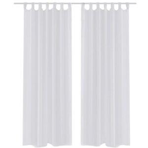 Cortina branca  140 x 175 cm 2 peças - PORTES GRÁTIS