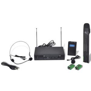 Receptor com fones sem fio e microfone VHF - PORTES GRÁTIS