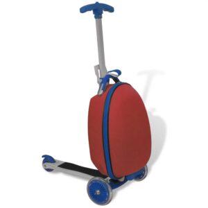 Scooter para crianças com mala vermelho - PORTES GRÁTIS