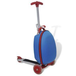Scooter para crianças com mala azul - PORTES GRÁTIS
