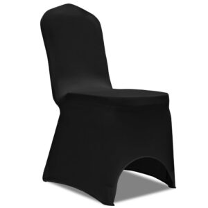 Capa de cadeira, elástica em preto, 50 peças - PORTES GRÁTIS
