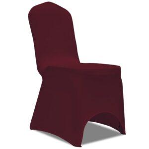 Capa de cadeira, elástica em vinho, 50 peças - PORTES GRÁTIS